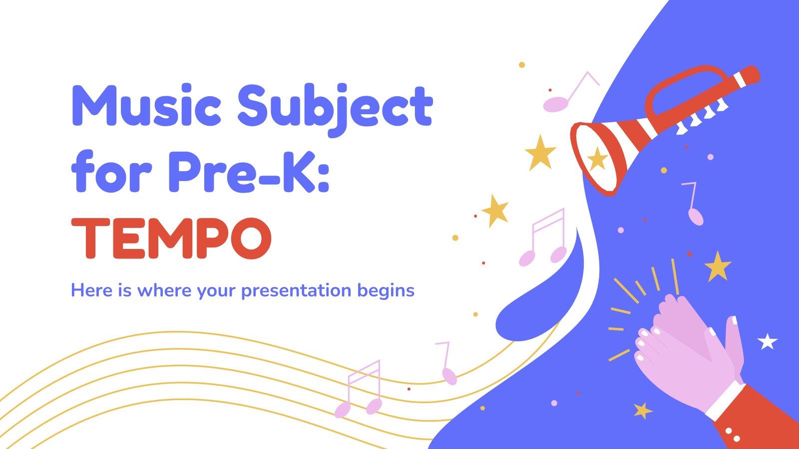 Musik für Pre-K: Tempo Präsentationsvorlage