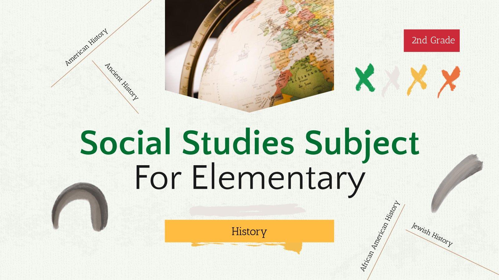 Plantilla de presentación Ciencias sociales de primaria: Historia