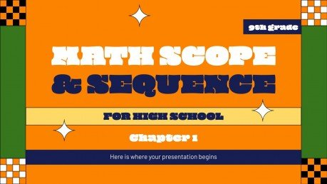 Math Scope & Sequence for High School - 9th Grade: Chapter 1 presentation template