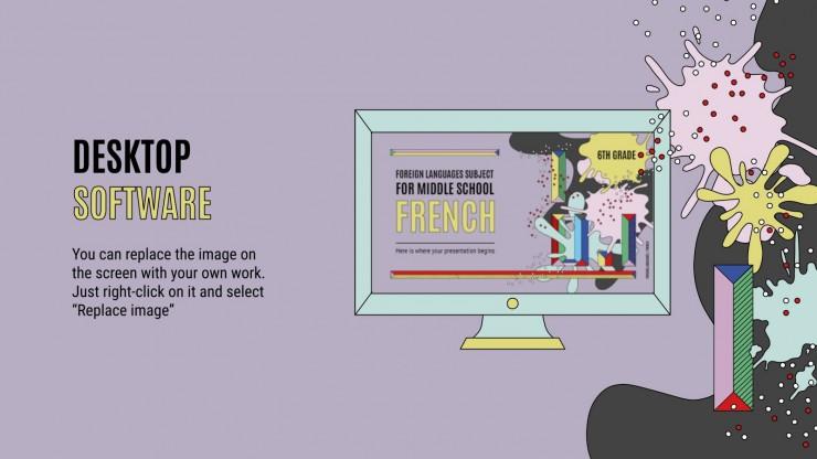 Modelo de apresentação Língua estrangeira para o ensino médio: Francês