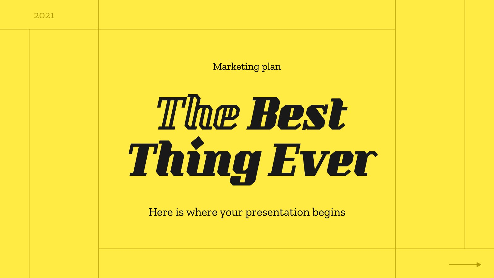 Plantilla de presentación Plan de marketing