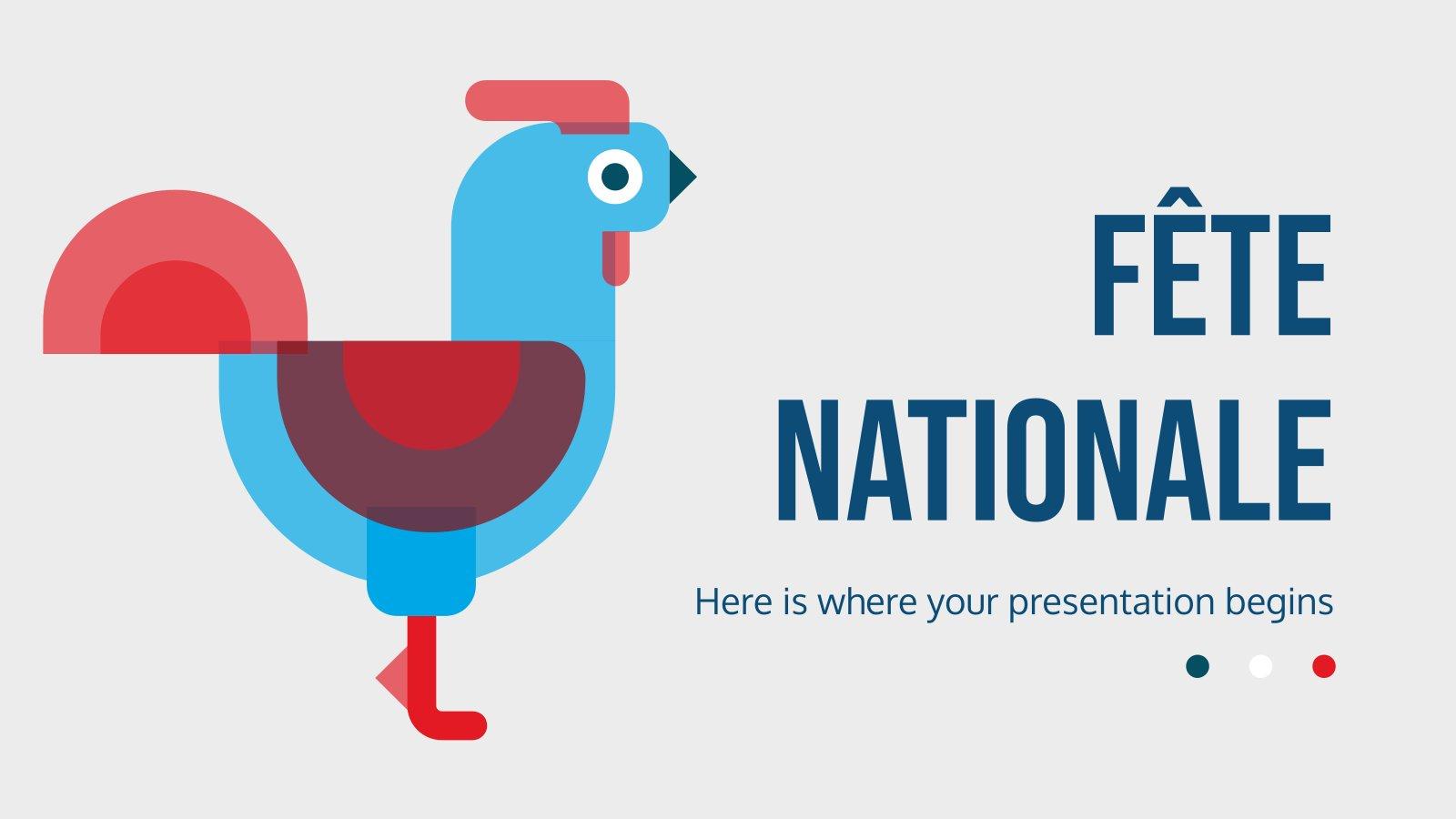Modelo de apresentação Fête Nationale