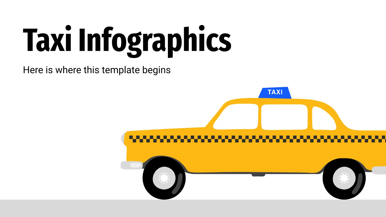 Taxi Infographics presentation template