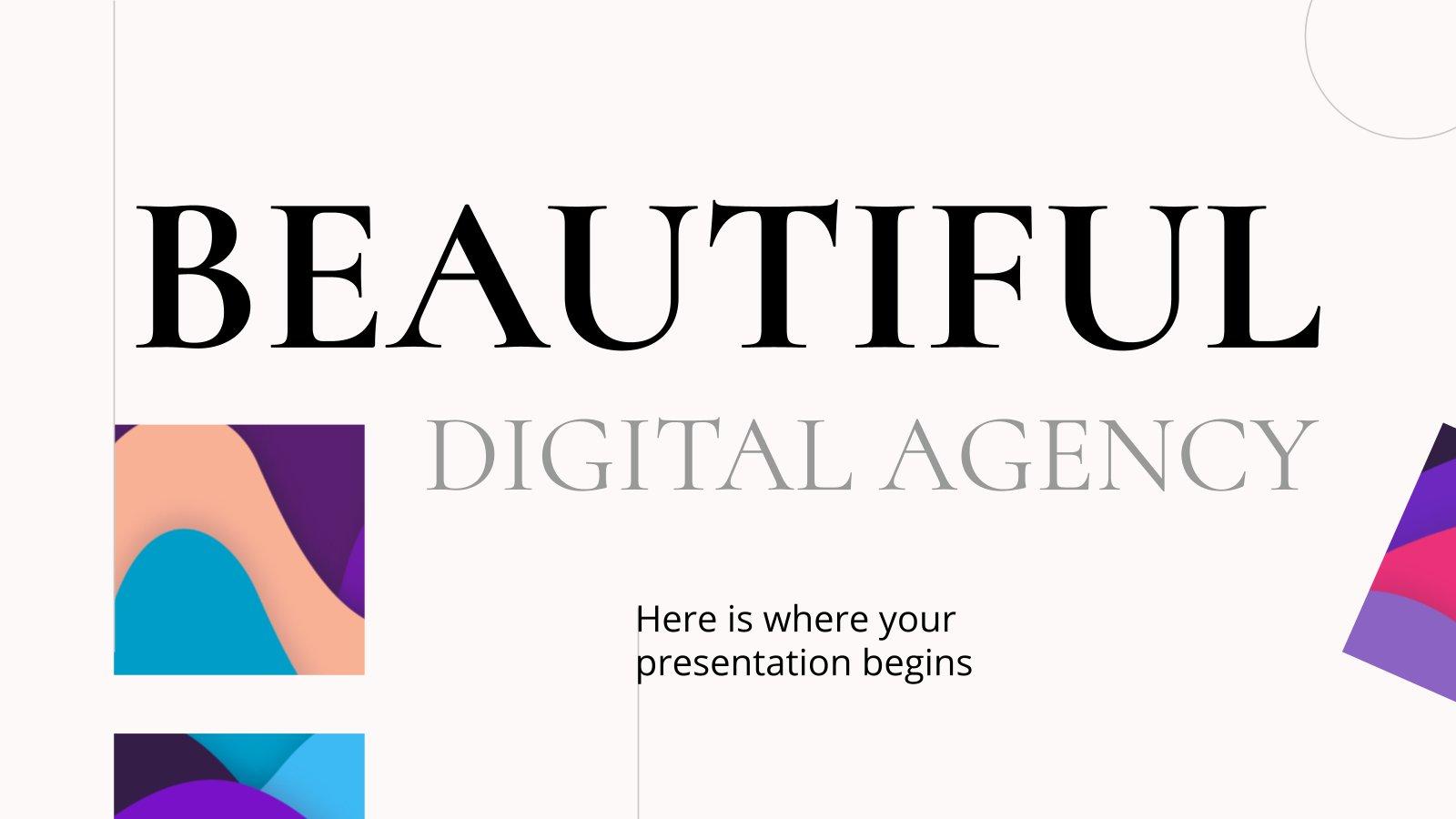 Schöne digitale Agentur Präsentationsvorlage