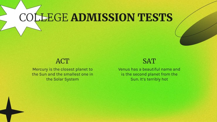 Preparing Your Students for College Admissions presentation template