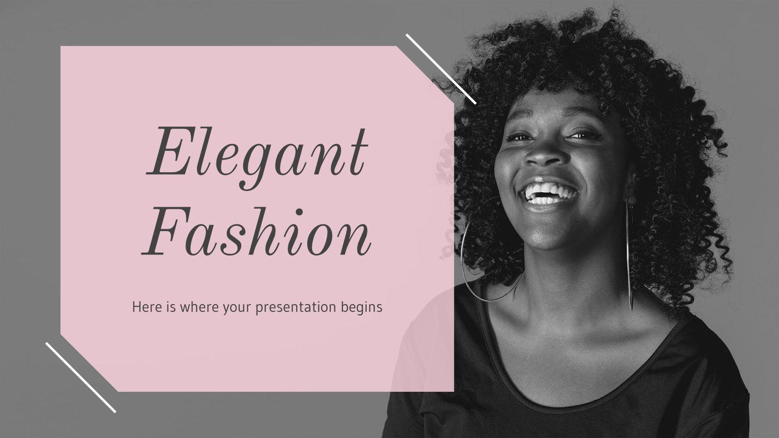 Elegante Mode Präsentationsvorlage