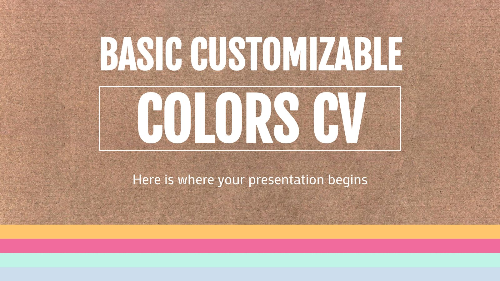 Plantilla de presentación Currículum editable con colores