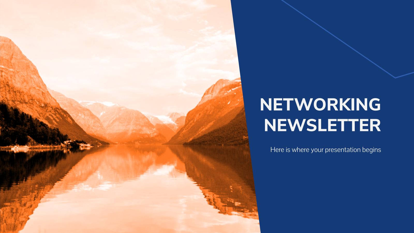 Plantilla de presentación Newsletter de networking