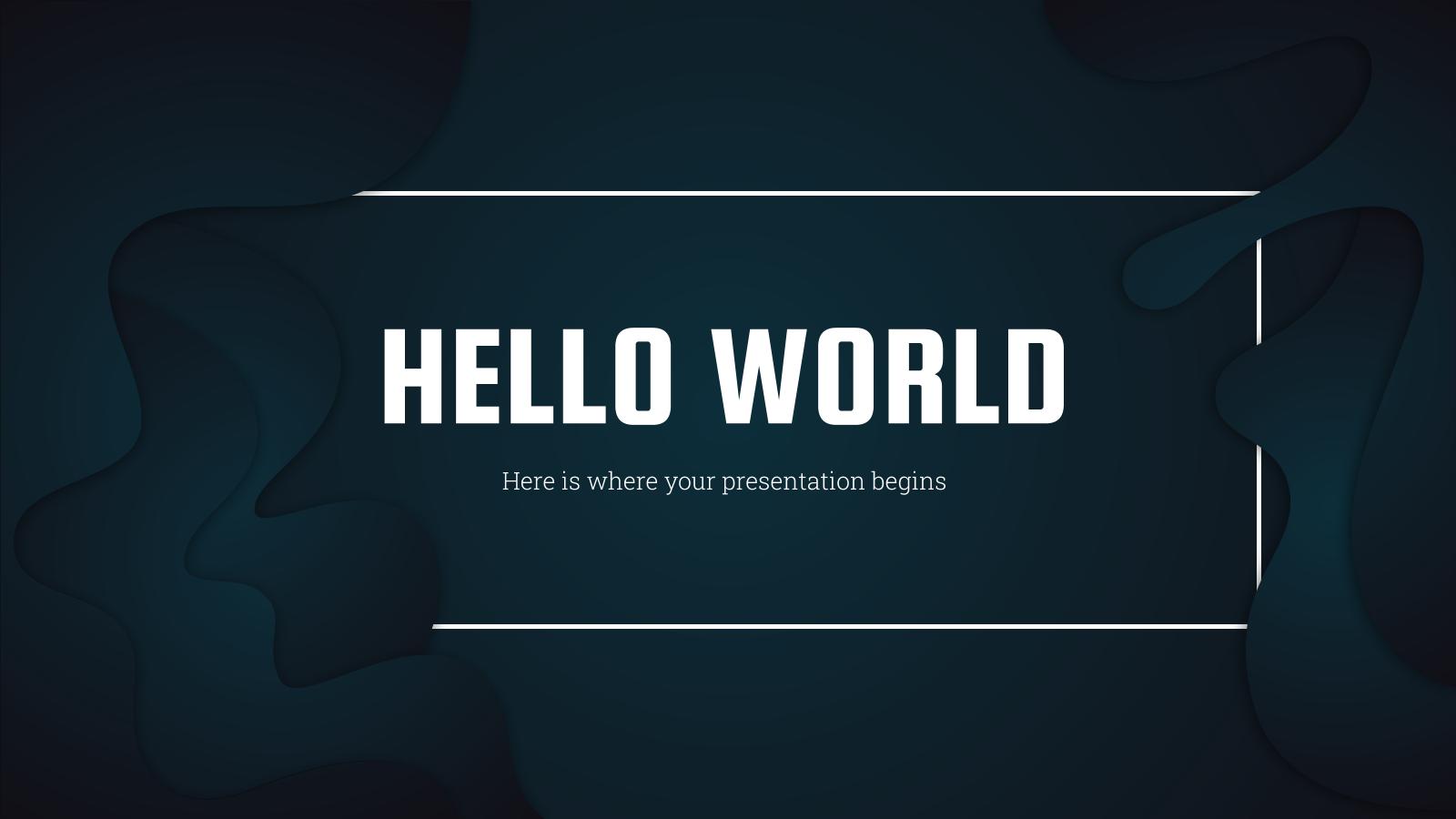 Plantilla de presentación Startup inspiradora de color negro