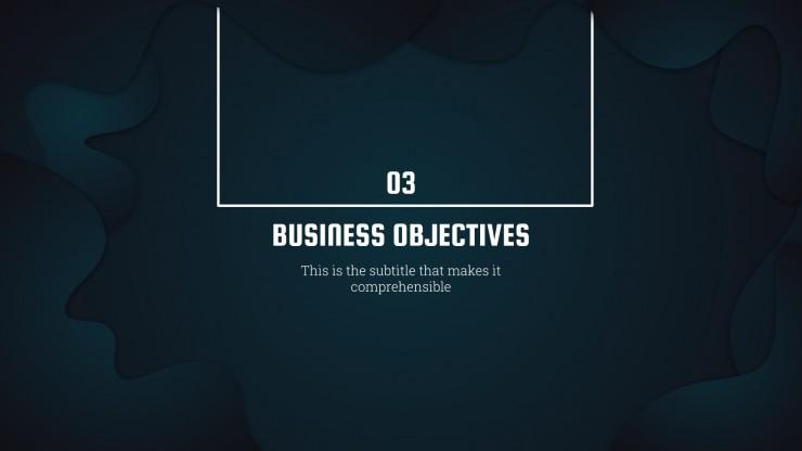 Inspiration start-up noir : Modèles de présentation