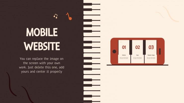 Happy Piano Day! presentation template