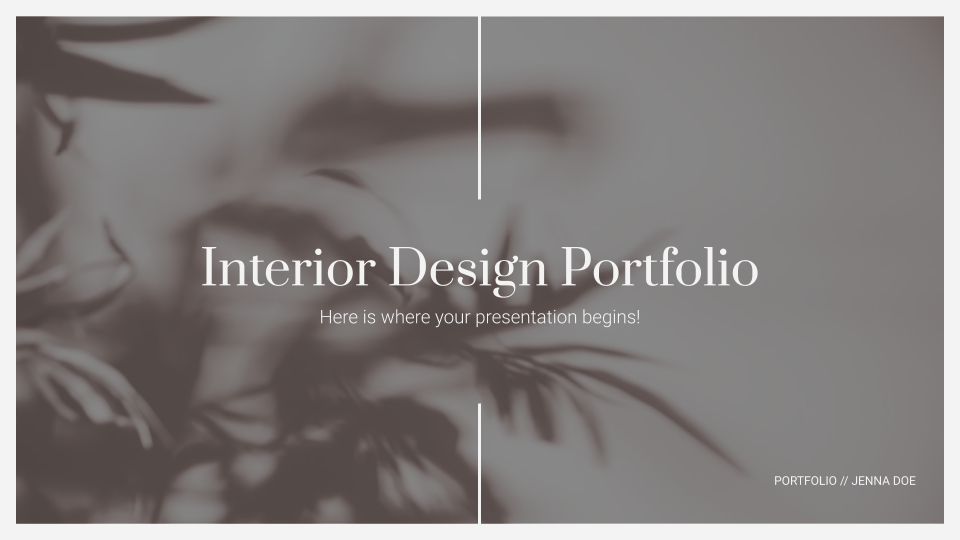 Interior Design Portfolio presentation template