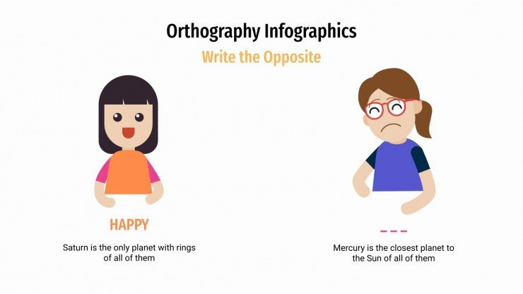 Orthography Infographics presentation template