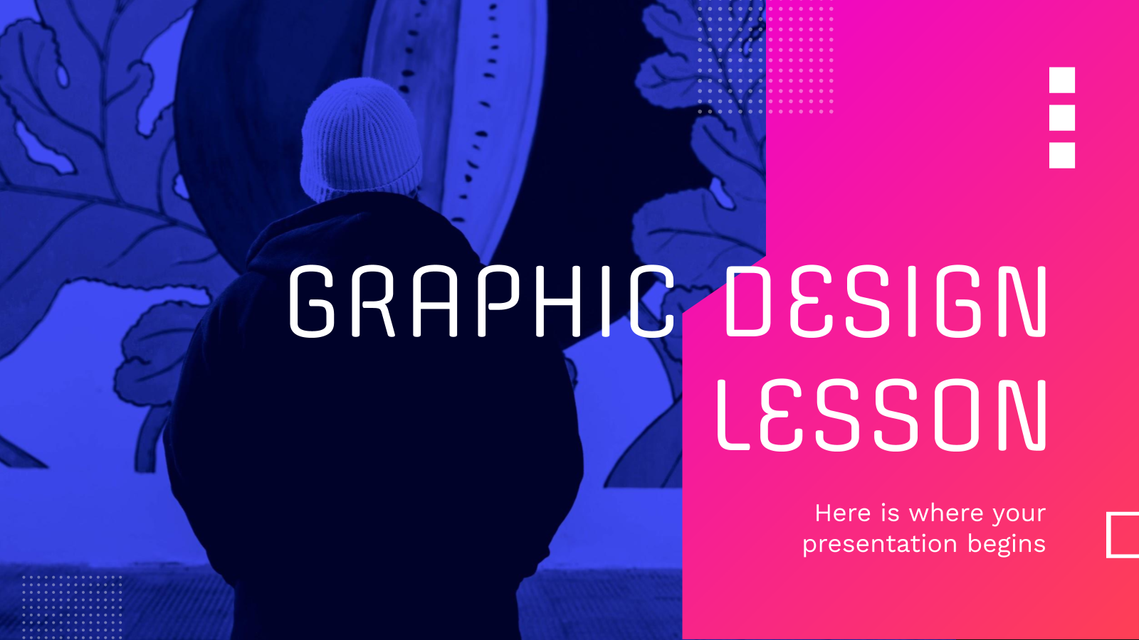 Graphic Design Lesson presentation template