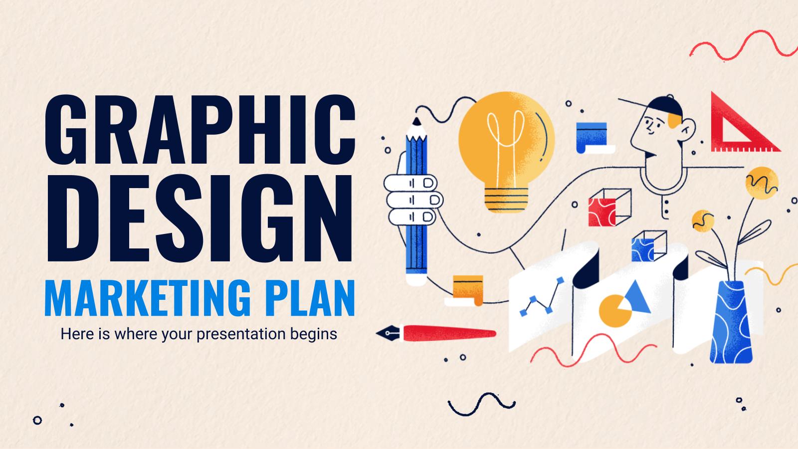 Modelo de apresentação Plano de marketing de design gráfico