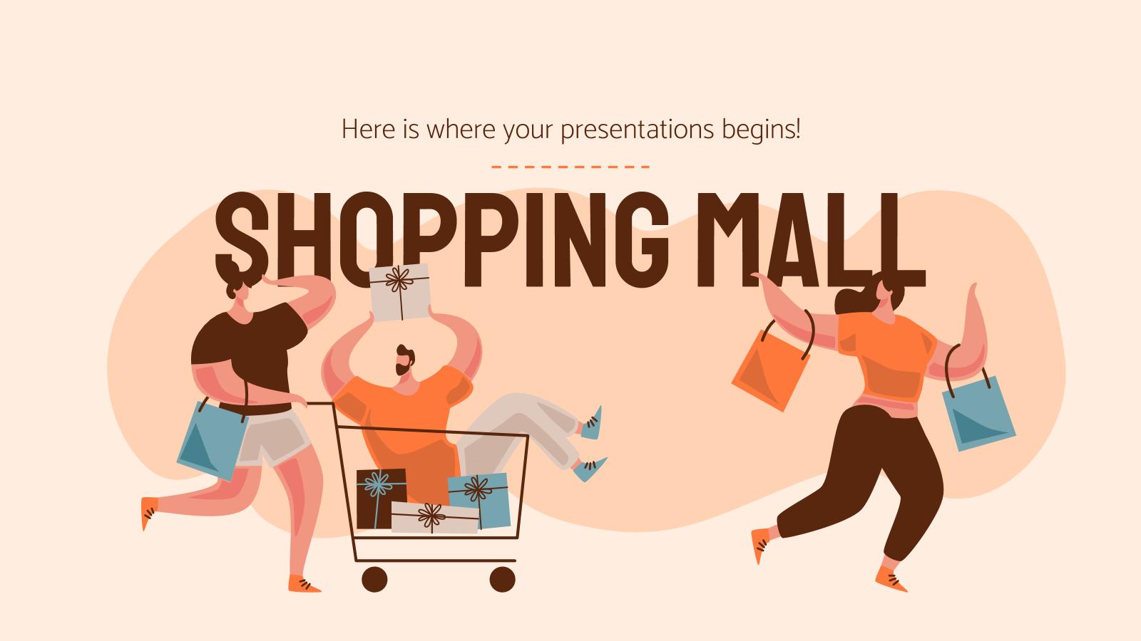 Modelo de apresentação Shopping center