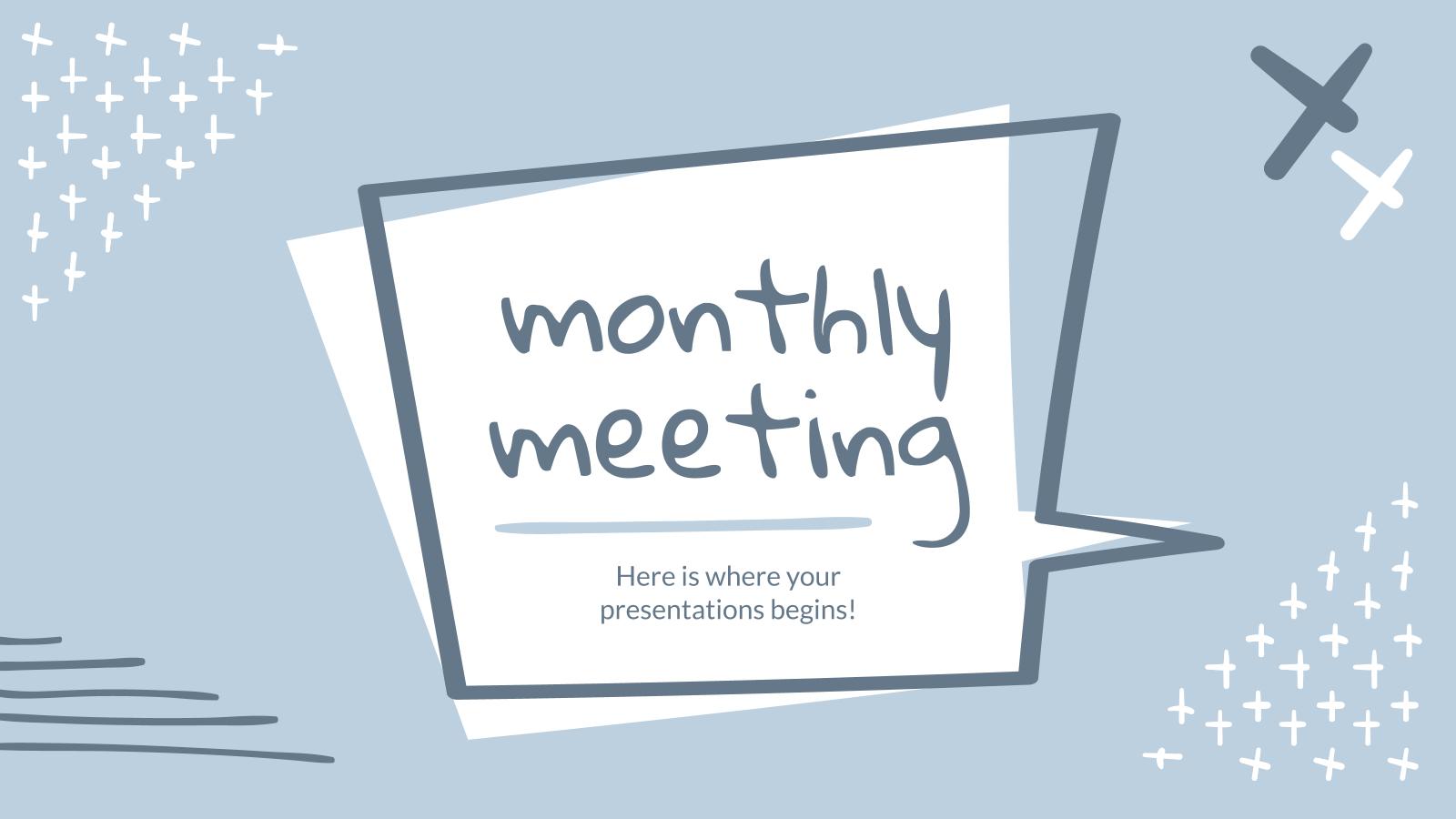 Modelo de apresentação Reunião mensal