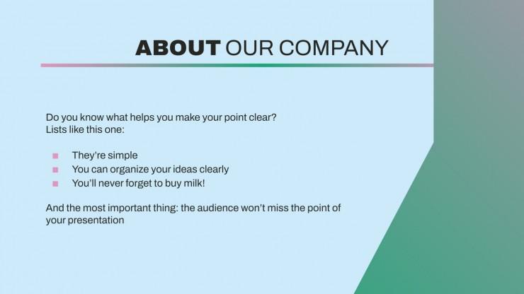Biotechnology Company Profile presentation template