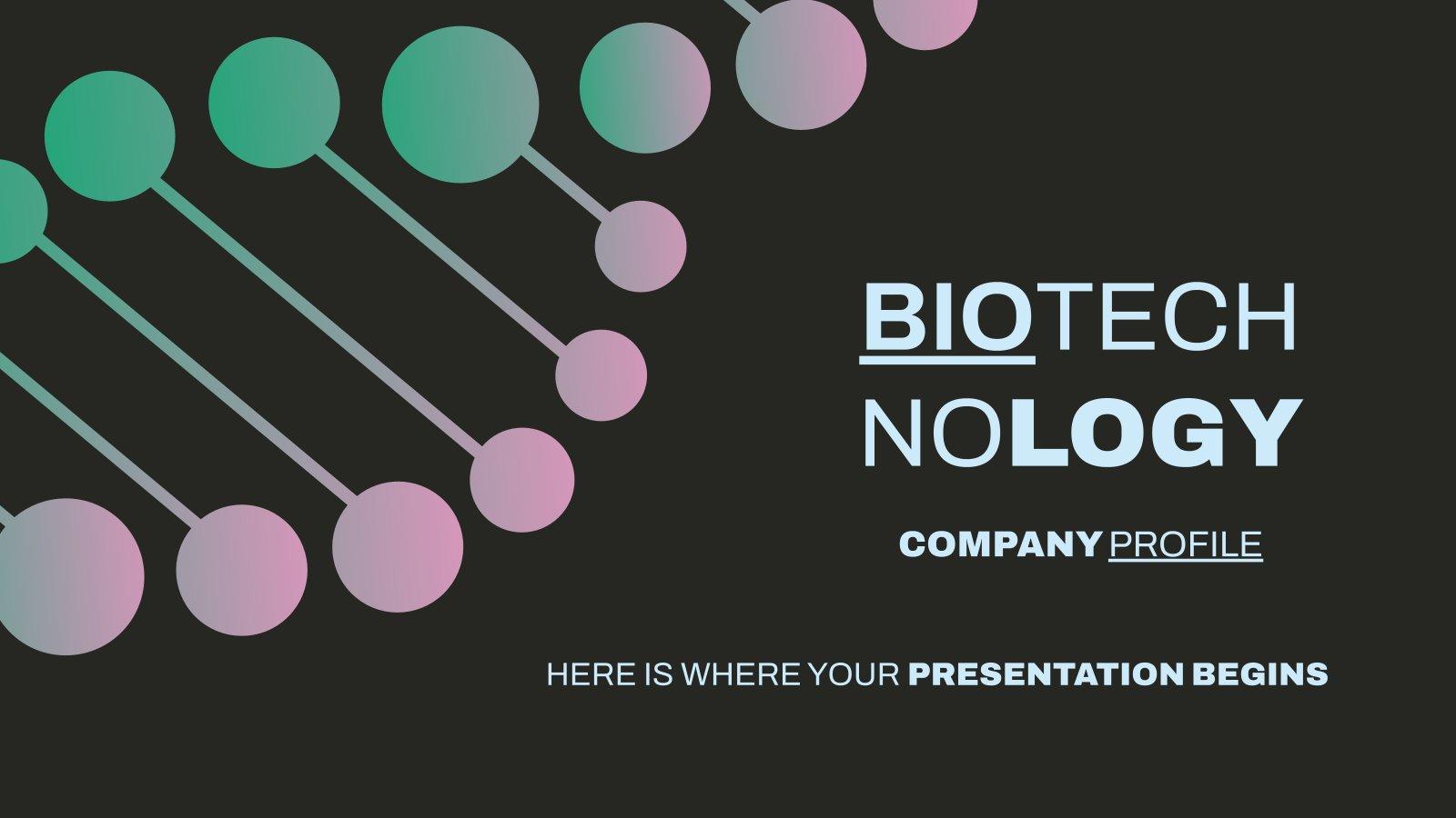 Biotechnologie Unternehmensprofil Präsentationsvorlage