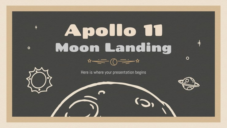 Apollo 11 Mondlandung Präsentationsvorlage