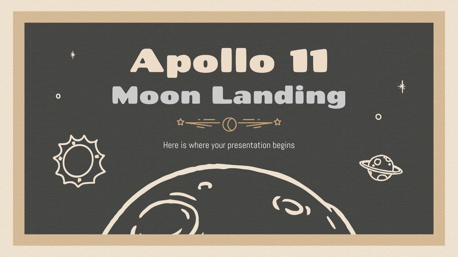 L'alunissage d'Apollo 11 : Modèles de présentation