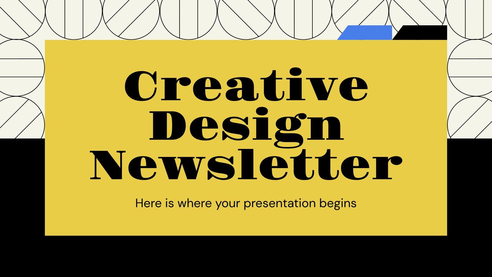 Creative Design Newsletter presentation template