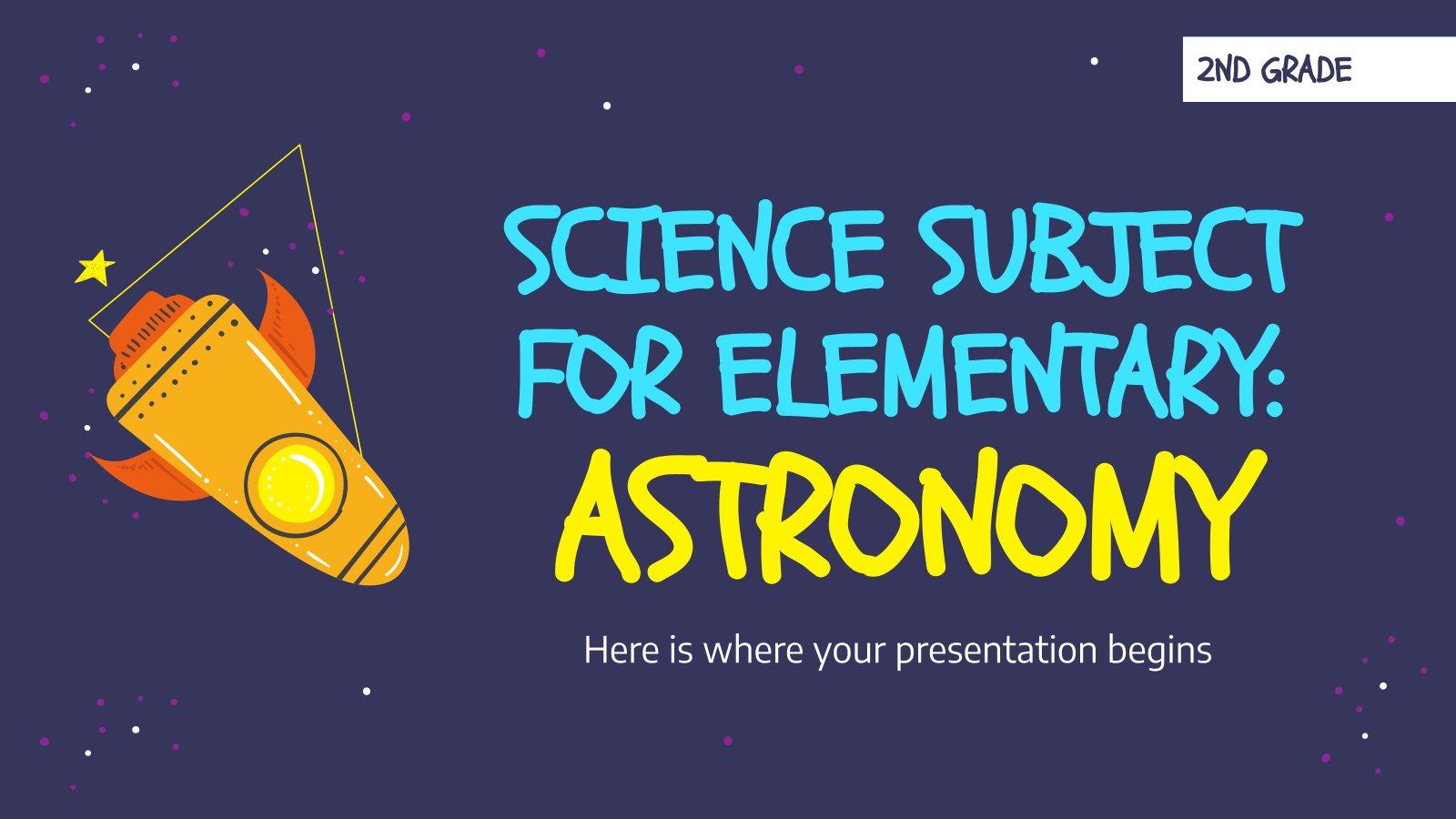 Science pour l'école primaire : Astronomie : Modèles de présentation