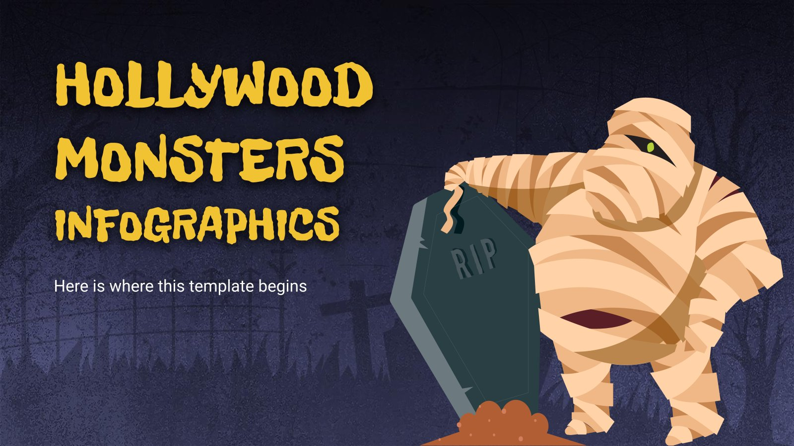 Hollywood Monsters Infographics presentation template