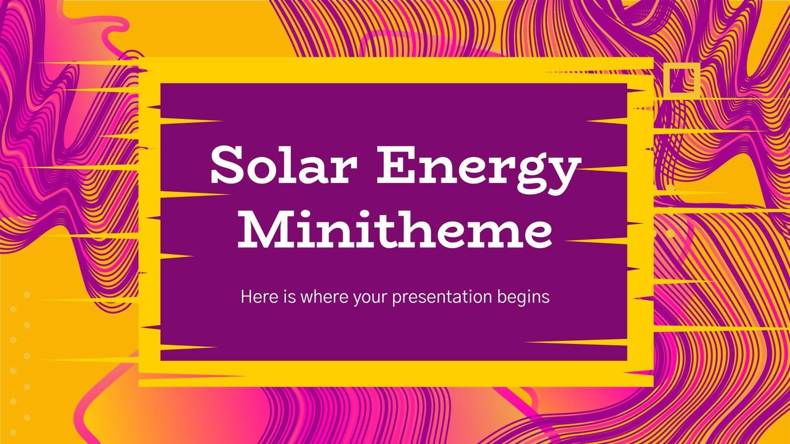 Modelo de apresentação Minitema de energia solar