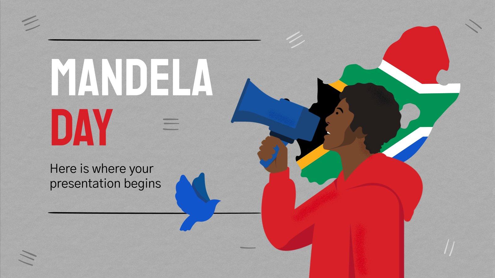 Mandela Day presentation template