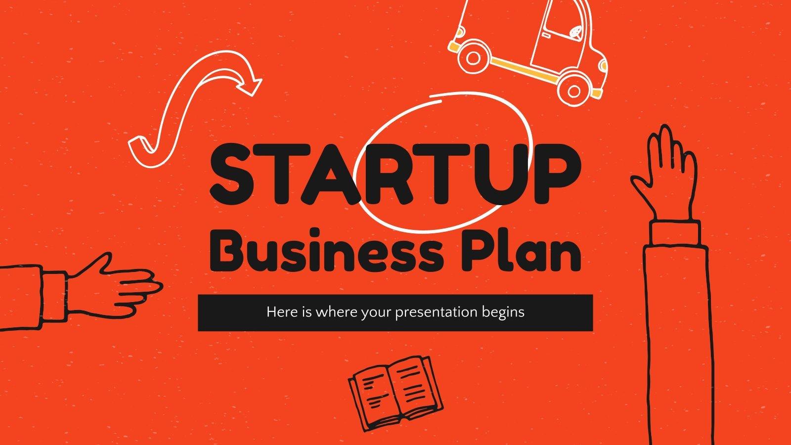 Startup Businessplan Präsentationsvorlage