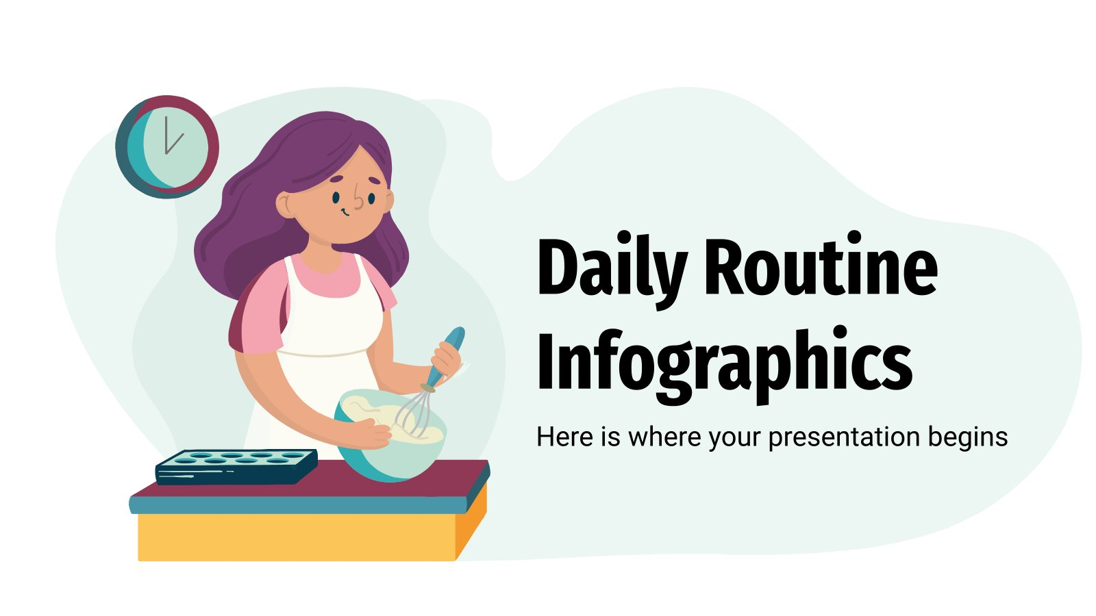 Daily Routine Infographics presentation template