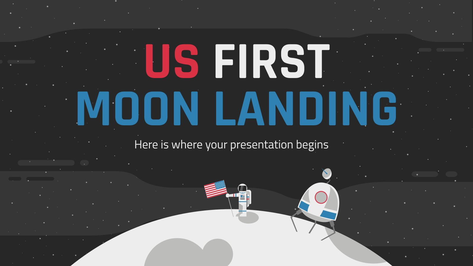US First Moon Landing presentation template