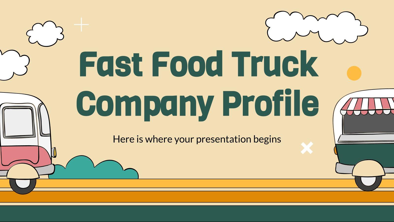 Profil de l'entreprise de camion-restaurants : Modèles de présentation