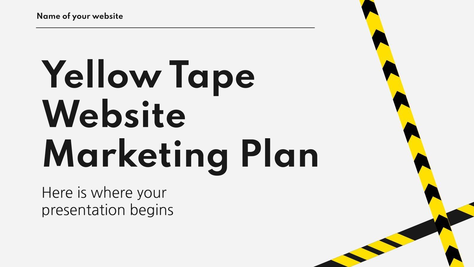 Yellow Tape Website MK Plan presentation template