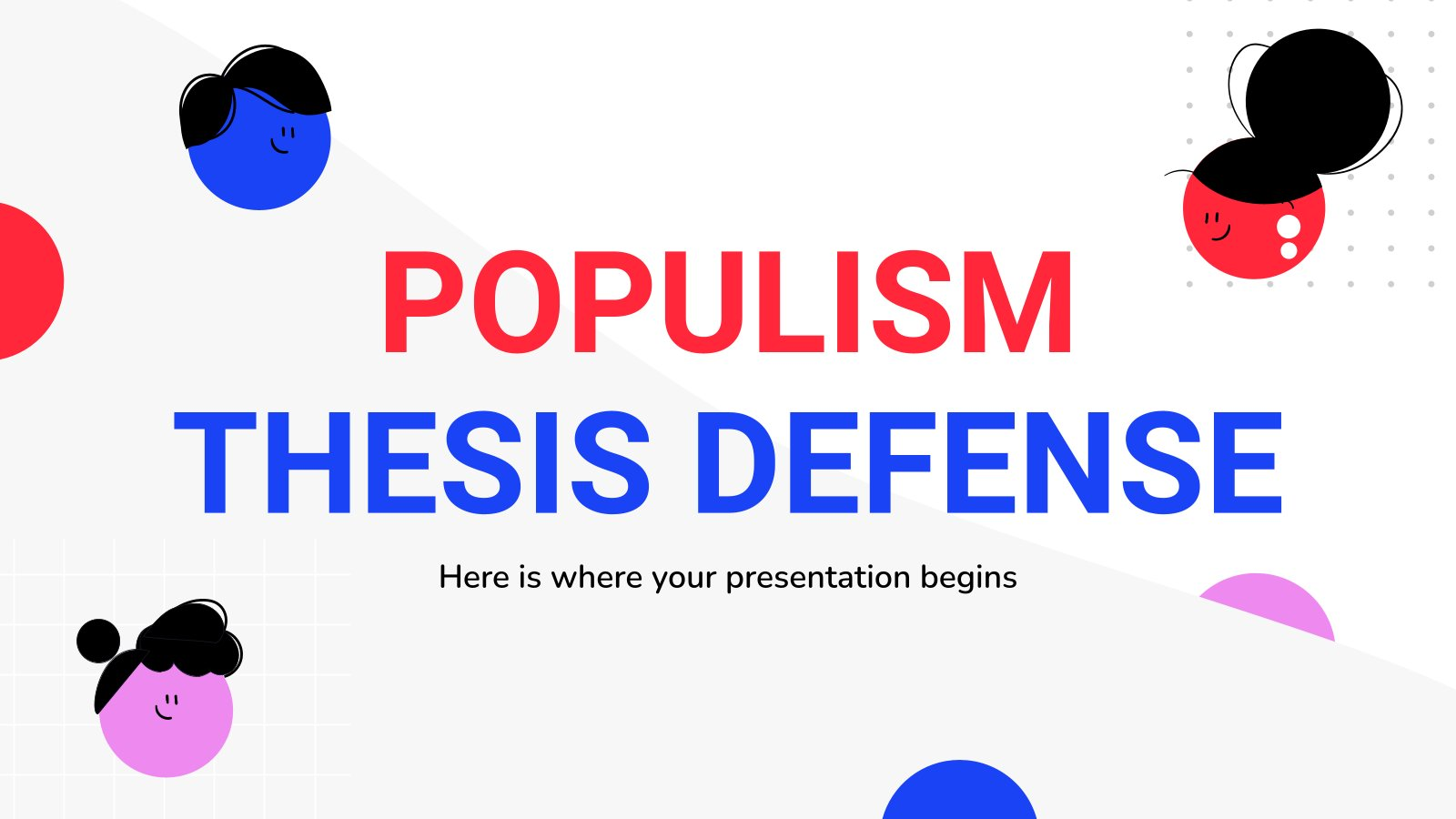 Populism Thesis Defense presentation template