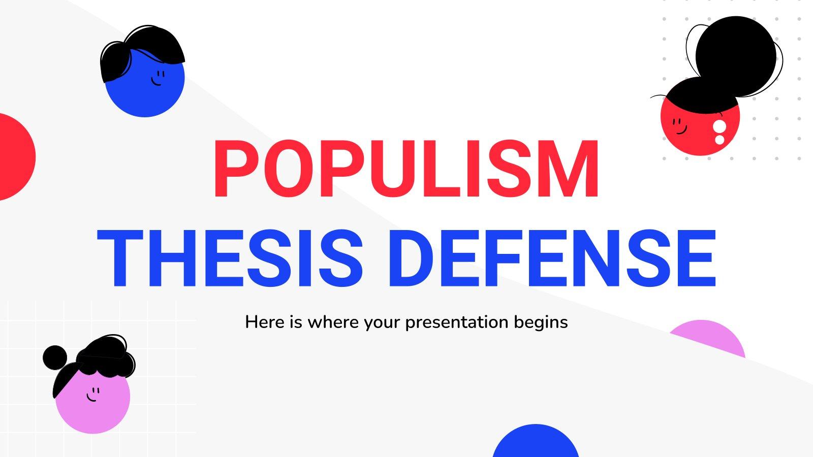 Modelo de apresentação Defesa da tese sobre populismo