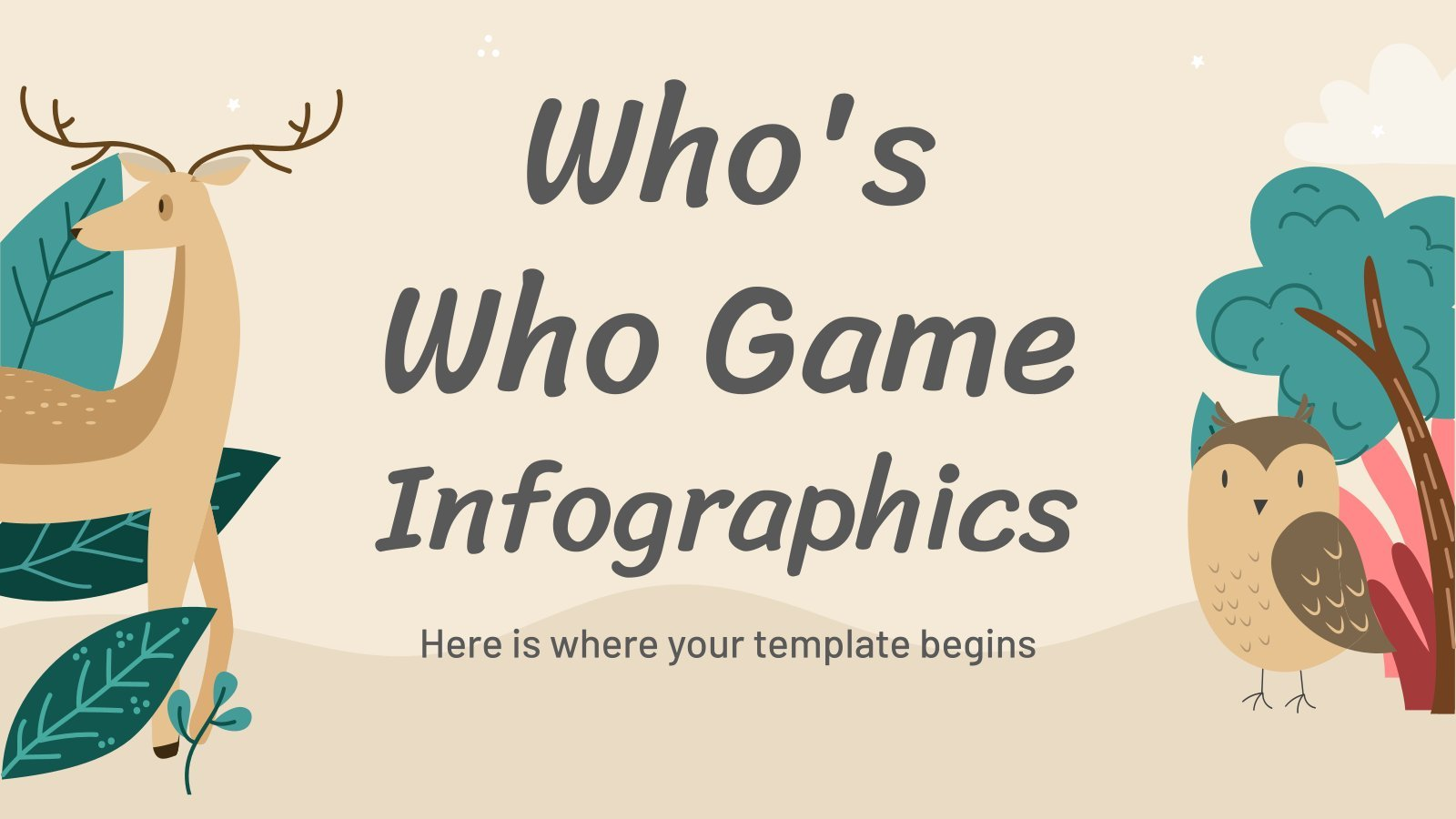 Who's Who Game Infographics presentation template