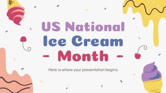 Mois des glaces aux États-Unis : Modèles de présentation