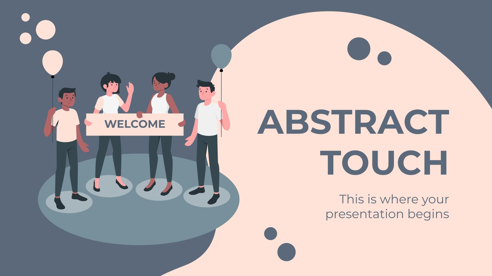 Abstract Touch presentation template
