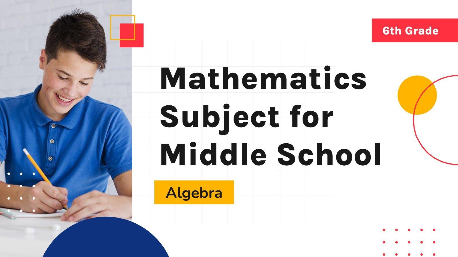 Mathe für die 6. Klasse: Algebra Präsentationsvorlage
