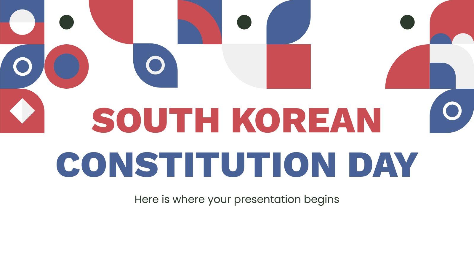 Südkoreanischer Verfassungstag Präsentationsvorlage