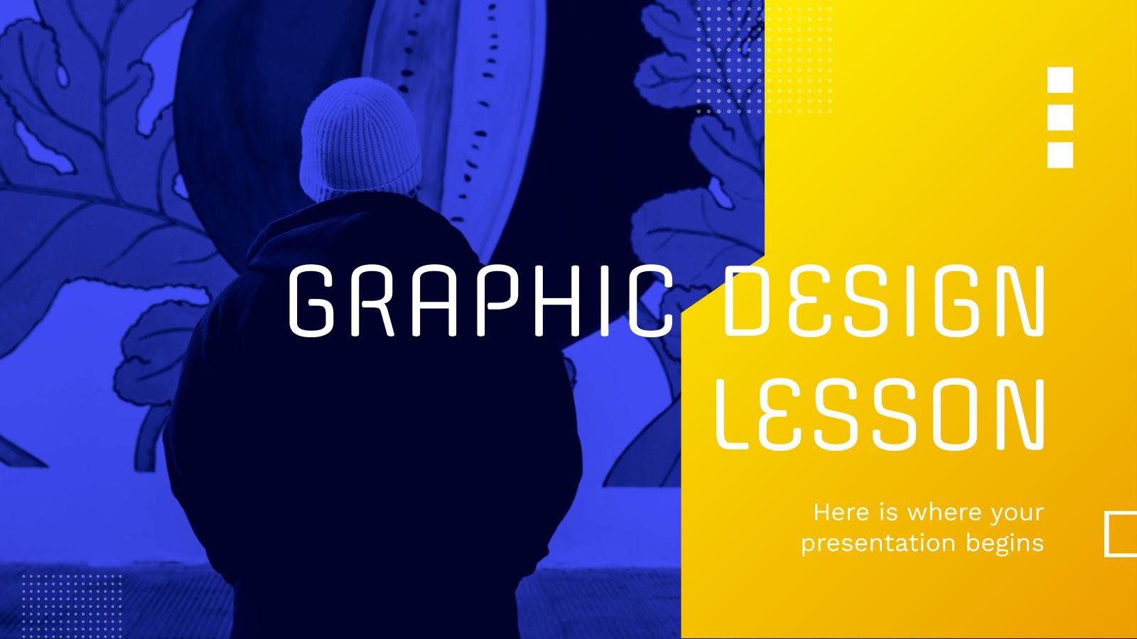 Modelo de apresentação Aula de design gráfico