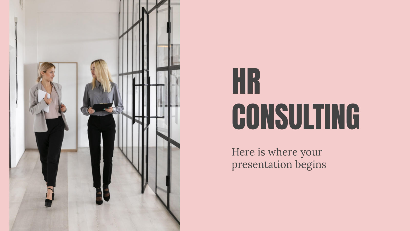 HR Consulting presentation template
