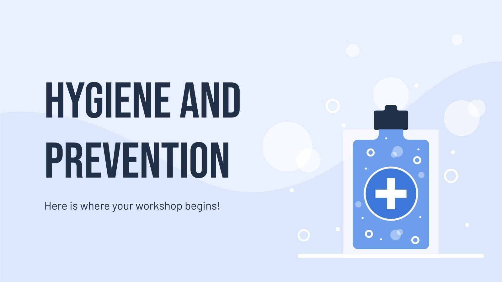 Hygiene und Prävention Präsentationsvorlage