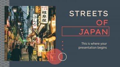 Straßen von Japan Präsentationsvorlage