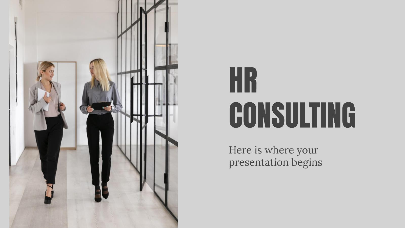 Modelo de apresentação Consultoria de RH