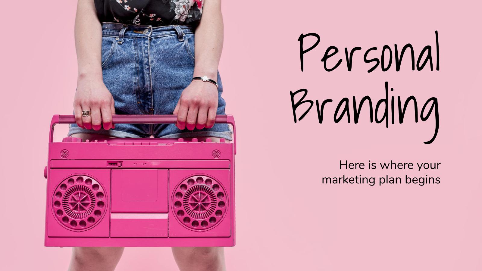 Plantilla de presentación Identidad de marca personal