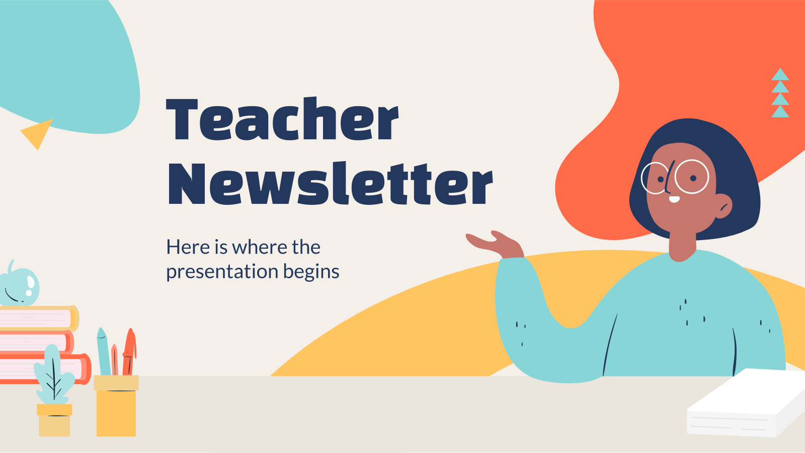 Teacher Newsletter presentation template