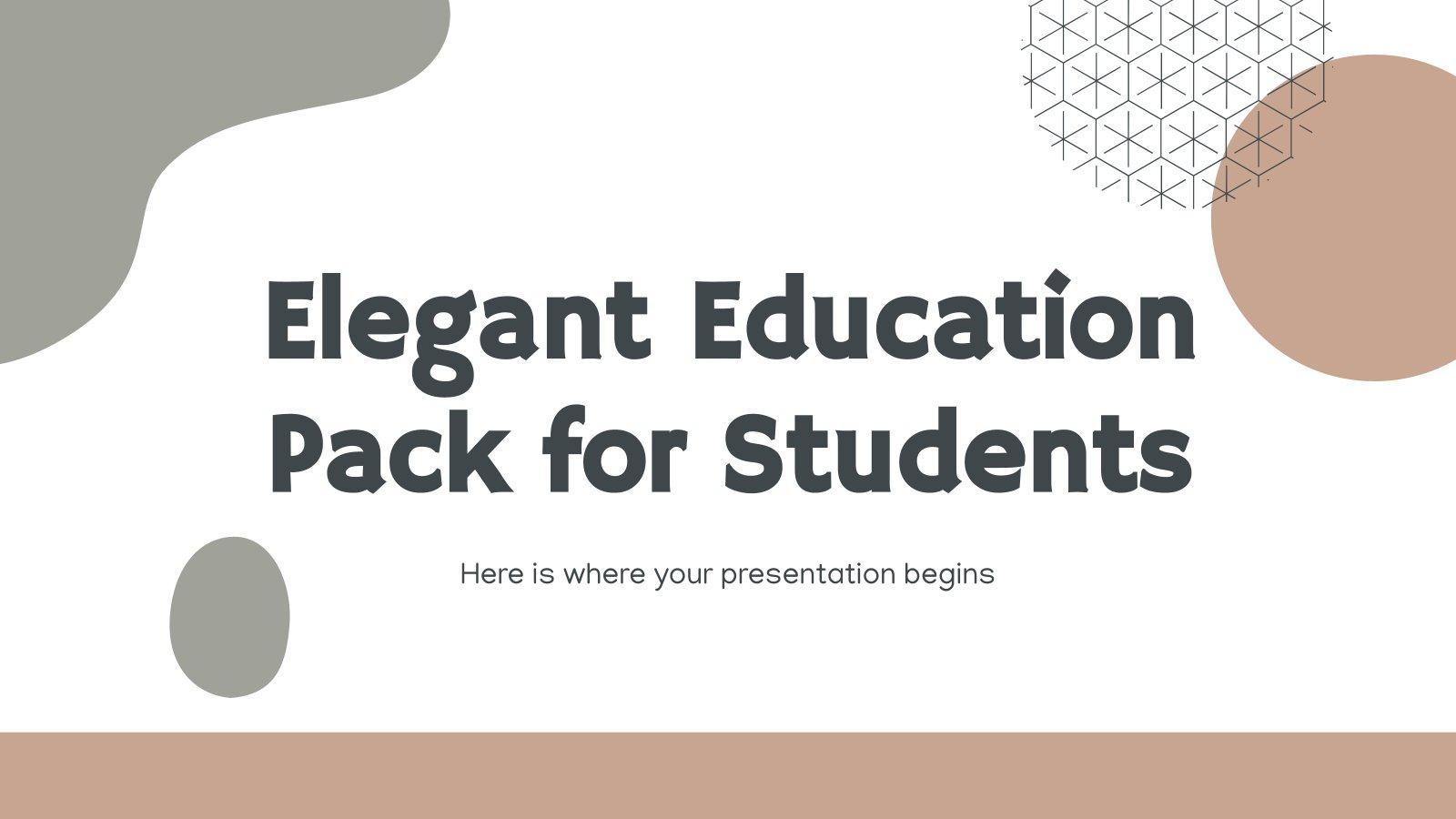 Modelo de apresentação Pacote educacional elegante para estudantes